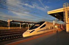 Estrada de ferro de alta velocidade Foto de Stock Royalty Free