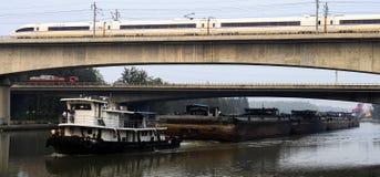 Estrada de ferro de alta velocidade de China Foto de Stock