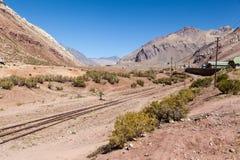 Estrada de ferro de Andes Argentina Foto de Stock Royalty Free
