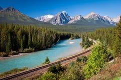 Estrada de ferro de Banff Imagem de Stock Royalty Free