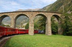 Estrada de ferro de Bernina Fotos de Stock