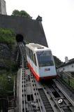 Estrada de ferro de cabo à fortaleza de Hohensalzburg Fotografia de Stock