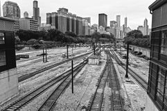 Estrada de ferro de Chicago Imagens de Stock Royalty Free
