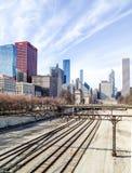 Estrada de ferro de Chicago Fotos de Stock Royalty Free