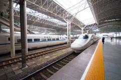 Estrada de ferro de China de alta velocidade Imagem de Stock Royalty Free