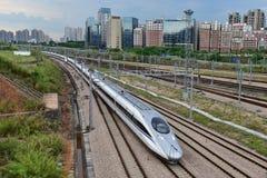 Estrada de ferro de China de alta velocidade fotografia de stock