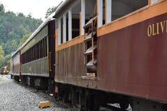 Estrada de ferro de Great Smoky Mountains em Bryson City, North Carolina Fotografia de Stock Royalty Free
