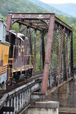 Estrada de ferro de Great Smoky Mountains em Bryson City, North Carolina Foto de Stock Royalty Free