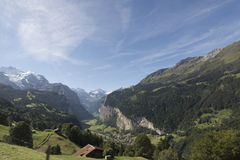 Estrada de ferro de Jungfraujoch, Suíça Imagem de Stock