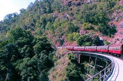 Estrada de ferro de Kuranda Fotos de Stock Royalty Free