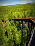 Estrada de ferro de Myra Canyon Imagens de Stock Royalty Free