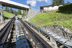 Estrada de ferro de Pilatus, Suíça Imagem de Stock