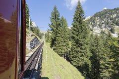 Estrada de ferro de Pilatus, Suíça Fotografia de Stock
