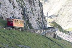 Estrada de ferro de Pilatus, Suíça Imagens de Stock Royalty Free