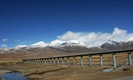 Estrada de ferro de Qinghai-Tibet Imagens de Stock