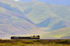 Estrada de ferro de Qinghai-Tibet Fotos de Stock
