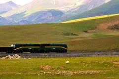 Estrada de ferro de Qinghai-Tibet Foto de Stock