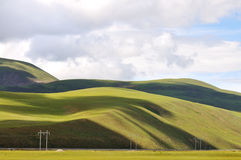 Estrada de ferro de Qinghai-Tibet Imagens de Stock Royalty Free