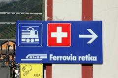 Estrada de ferro de Retic fotografia de stock royalty free