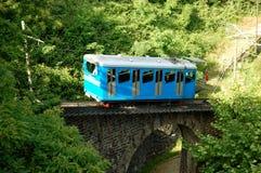 Estrada de ferro de roda denteada azul Foto de Stock