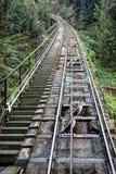 Estrada de ferro de Sant Joan Funicular montserrat spain imagens de stock