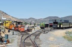 Estrada de ferro de Virginia City fotos de stock