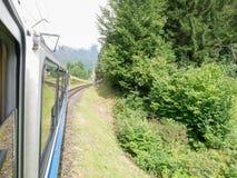 Estrada de ferro de Zugspitze, bavaria, Alemanha Imagens de Stock Royalty Free