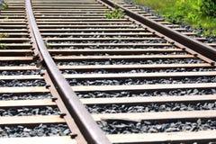 Estrada de ferro Dia ensolarado Imagens de Stock