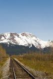 Estrada de ferro do Alasca foto de stock