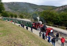 A estrada de ferro do extremo sul no mundo na borda da terra Foto de Stock