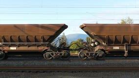 Estrada de ferro do minério de ferro video estoque