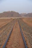 Estrada de ferro do otomano no deserto de Wadi Rum fotografia de stock royalty free