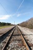 Estrada de ferro do país na floresta Fotografia de Stock