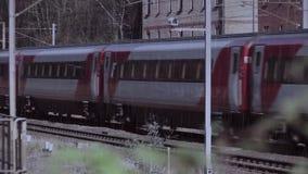 Estrada de ferro do tempo do trilho do trem vídeos de arquivo