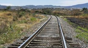 Estrada de ferro do trem Imagem de Stock