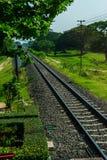 Estrada de ferro do trem Fotos de Stock Royalty Free
