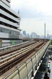 Estrada de ferro do trem de céu Fotos de Stock