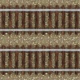 Estrada de ferro do trem no teste padrão sem emenda das pedras Fotografia de Stock Royalty Free