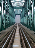 Estrada de ferro e ponte Fotos de Stock