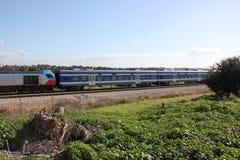 Estrada de ferro e trem Fotografia de Stock Royalty Free