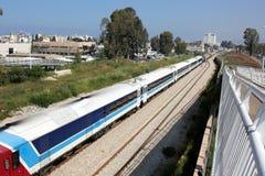 Estrada de ferro e trem Foto de Stock
