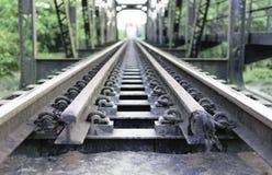 Estrada de ferro e viaduto Imagens de Stock Royalty Free