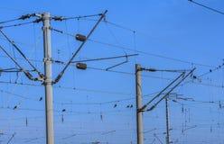 Estrada de ferro elétrica Foto de Stock Royalty Free