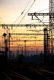 Estrada de ferro elétrica Fotos de Stock
