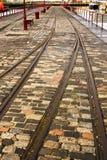 Estrada de ferro em docas de Leith imagens de stock