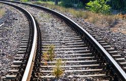 Estrada de ferro em Donetsk Estação de comboio britânica imagem de stock royalty free