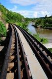 A estrada de ferro em Kanchanaburi, Tailândia da morte Fotos de Stock