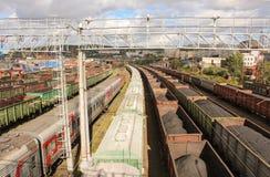Estrada de ferro em Murmansk Imagem de Stock