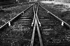 Estrada de ferro em preto e branco Imagens de Stock Royalty Free