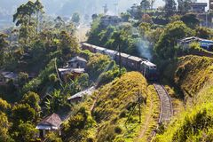 Estrada de ferro em Sri Lanka Fotos de Stock Royalty Free